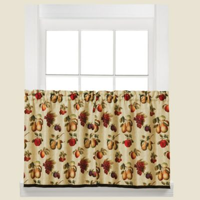 Fruits Du Marche Kitchen Window Curtain Tier Pair