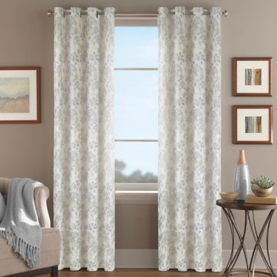 Magnolia Morocco 95-Inch Grommet Top Window Curtain Panel in Gold