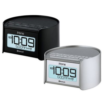 iHome® IBT230SSC Dual Alarm Clock and Radio with Speakerphone in Silver