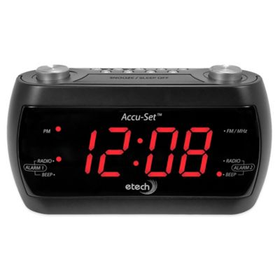 Accu-Set™ E-Tech FM Alarm Clock Radio