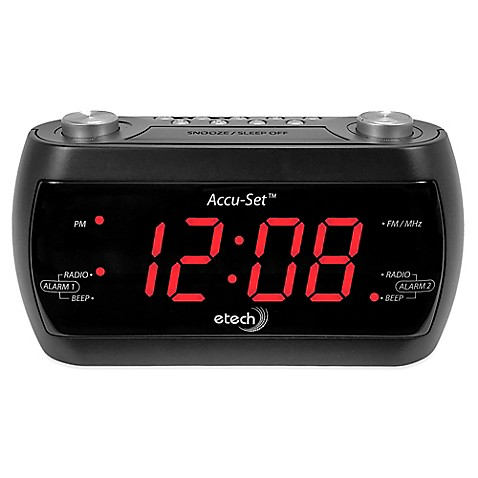 accu set e tech fm alarm clock radio bed bath beyond. Black Bedroom Furniture Sets. Home Design Ideas