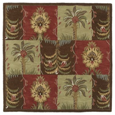 Kaleen Tara Palmetto 3-Foot 9-Inch Square Area Rug in Nutmeg