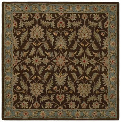 Kaleen Tara St. Vincent 3-Foot 9-Inch Square Area Rug in Chocolate