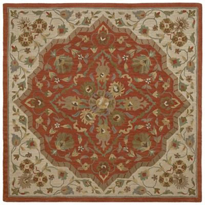 Kaleen Tara Azores 9-Foot 9-Inch Square Area Rug in Orange