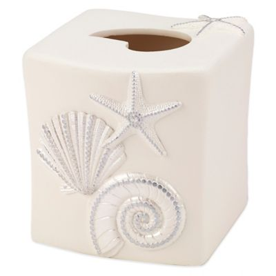 Avanti Sequin Shell Tissue Cover in Ivory