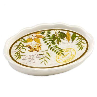 Avanti Foliage Garden Soap Dish in Ivory
