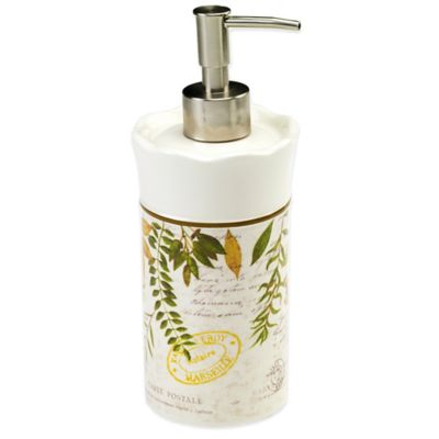Avanti Foliage Garden Lotion Dispenser in Ivory