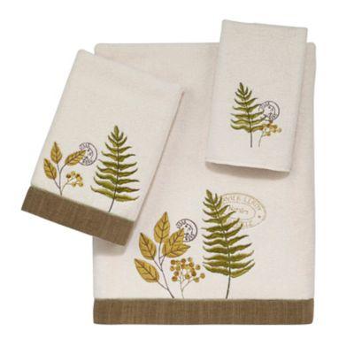Avanti Foliage Garden Bath Towel in Ivory