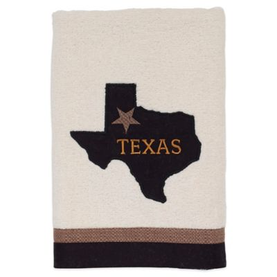 Lone Star Map Hand Towel