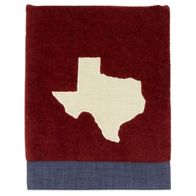 Avanti Texas Map Hand Towel in Brick