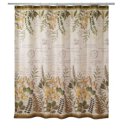 Foliage Garden Shower Curtain in Ivory