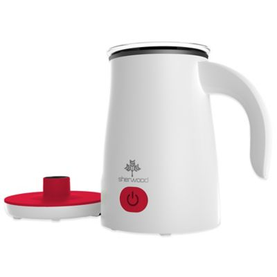 Sherwood SMF-1000R 17 oz. Magnetic Electric Milk Frother and Warmer in Red