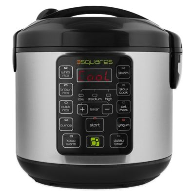 3 Squares Tim3 Machin3™ Fuzzy Logic 2.0™ 20-Cup Rice Cooker