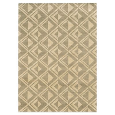 Beige Diamond Rug