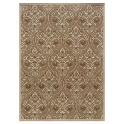 Bombay® Chenille Tapis 2-Foot x 8-Foot Damask Runner in Green