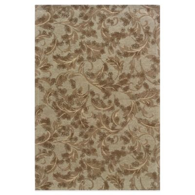 Bombay® Chenille Tapis 2-Foot x 8-Foot Leaves Runner in Sage