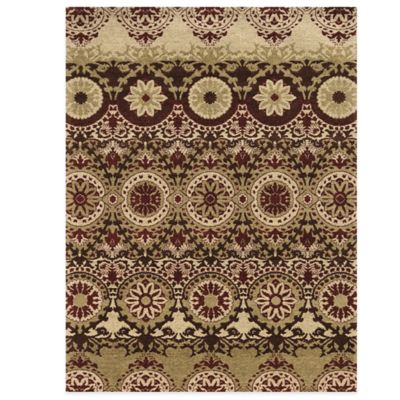 Bombay® Chenille Tapis Taj 8-Foot x 10-Foot Rug in Red