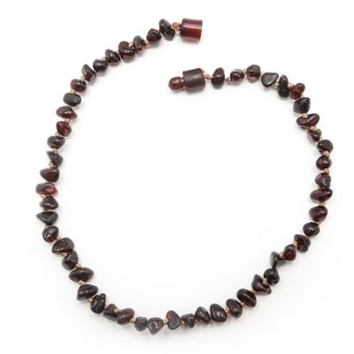 Healing Hazel Baltic Amber 10.5-Inch Baby Necklace in Polished Cherry