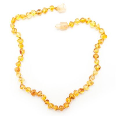 Healing Hazel Baltic Amber 10.5-Inch Baby Necklace in Polished Honey