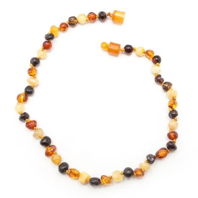 Healing Hazel Baltic Amber 10.5-Inch Baby Necklace in Polished Brown Multi