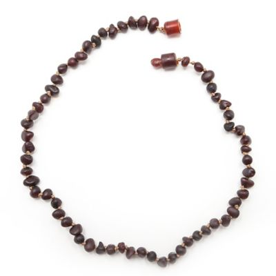 Healing Hazel Baltic Amber 11-Inch Baby Necklace in Raw Cherry