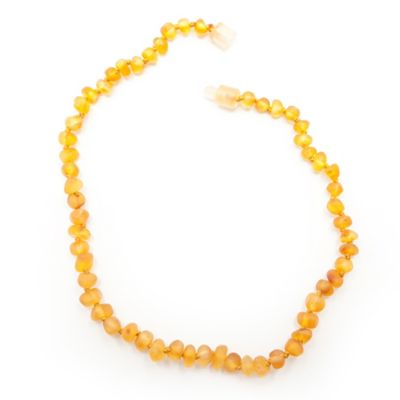 Healing Hazel Baltic Amber 11-Inch Baby Necklace in Raw Honey