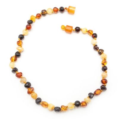 Healing Hazel Baltic Amber 11-Inch Baby Necklace in Polished Brown Multi