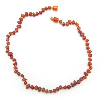 Healing Hazel Baltic Amber 12-Inch Children's Necklace in Raw Cognac