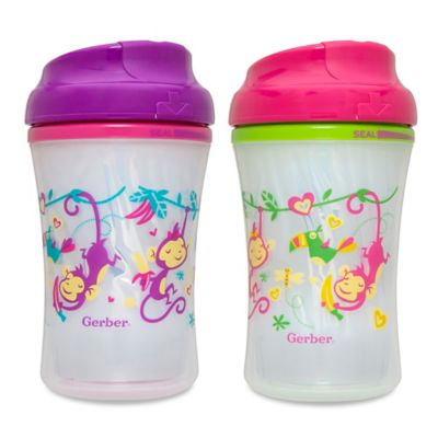 NUK® Gerber Graduates Advance 4-Pack 9 oz. Developmental Insulated Monkey Sippy Cups