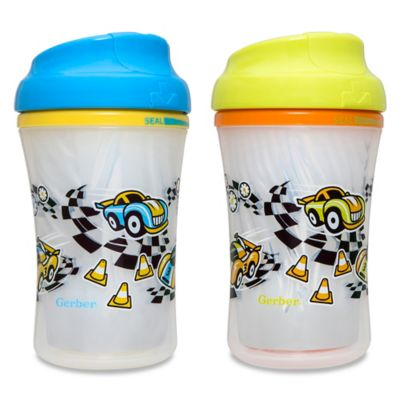 NUK® Gerber Graduates Advance 4-Pack 9 oz. Developmental Insulated Racetrack Sippy Cups
