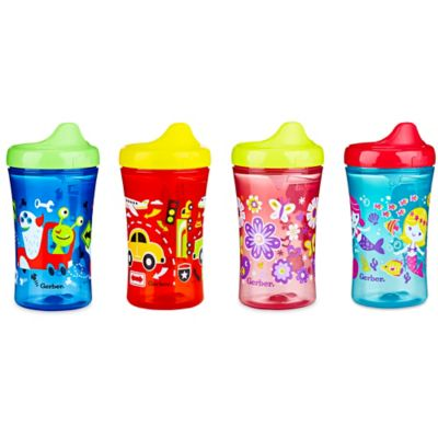 NUK® Gerber Graduates Advance 4-Pack 10 oz. Cars and Aliens Truck Sippy Cups in Red/Blue/Yellow