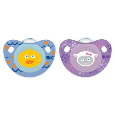NUK® Cute as a Button Duck and Lamb 0-6M 4-Pack Orthodontic Pacifiers