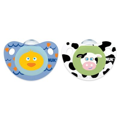 NUK® Cute as a Button Duck and Cow 0-6M 4-Pack Orthodontic Pacifiers