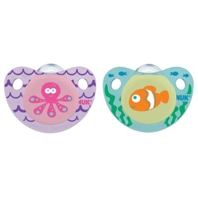 NUK® Cute as a Button Fish and Lamb 6-18M 4-Pack Orthodontic Pacifiers