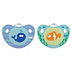NUK® Cute as a Button Whale and Fish 6-18M 4-Pack Orthodontic Pacifiers