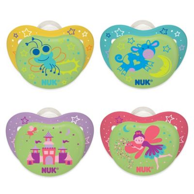 NUK® Night Glow Castle and Princess 6-18M 2-Pack Orthodontic Pacifiers