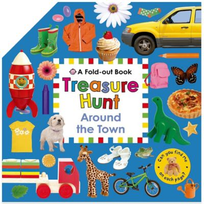 Treasure Hunt: Around the Town Fold Out Book by Roger Priddy