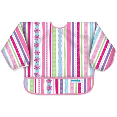 Bumkins® Ribbons Long Sleeve Bib in Pink