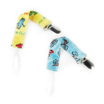 Bumkins® 2-Pack Dr. Seuss™ Pacifier Clips