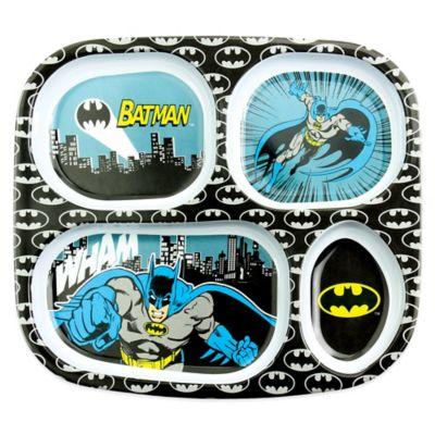 Bumkins® DC Comics Batman Melamine Divided Plate