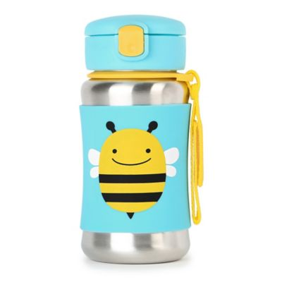 SKIP*HOP® Zoo Bee Stainless Steel Straw Bottle