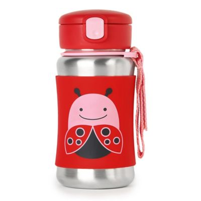 SKIP*HOP® Zoo 12 oz. Stainless Steel Ladybug Straw Bottle
