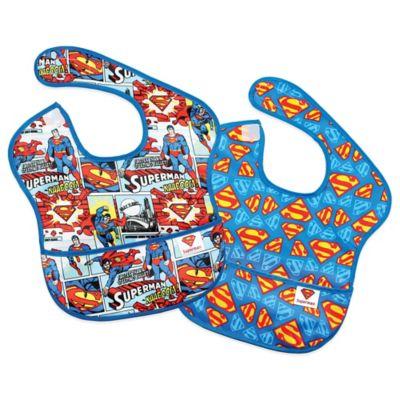 Bumkins® DC Comics 2-Pack Superman Comic/Allover Logo SuperBib®
