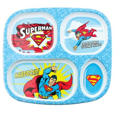 Bumkins® DC Comics Superman Melamine Divided Plate