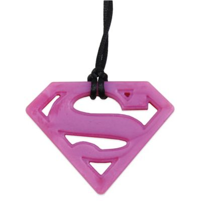 Bumkins® DC Comics Silicone Supergirl Teething Pendant Necklace