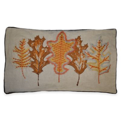 Harvest Maple 12-Inch x 20-Inch Oblong Throw Pillow