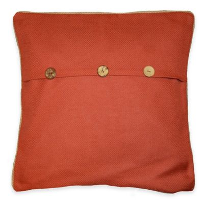 Sahara Rust 20-Inch Square Throw Pillow in Orange