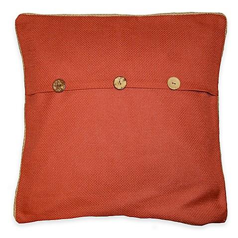 Sahara Rust 20-Inch Square Throw Pillow in Orange - Bed Bath & Beyond