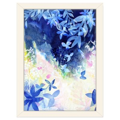 Americanflat Urban Road Collection Falling Leaves Navy Framed Art Work