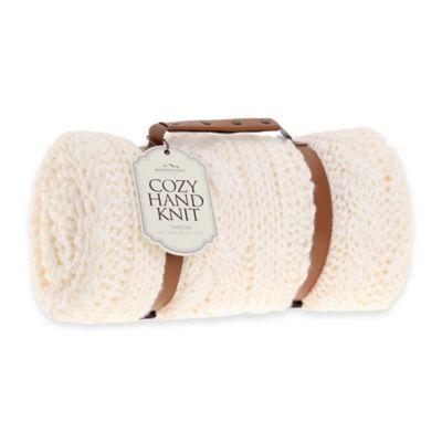 Ivory Knit Throw